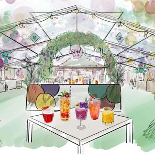 Edinburgh Cocktail Week - Cocktail Village Interior