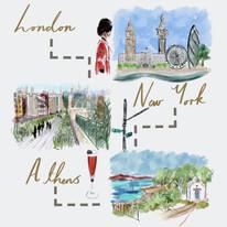 London, NYC, Athens