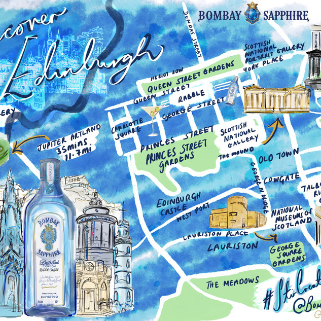 Talk Art and Bombay Sapphire map 2019