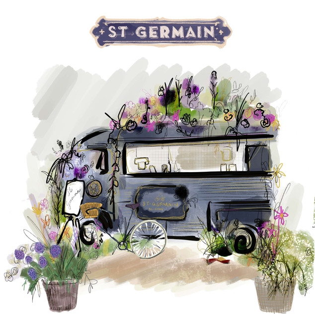 St Germain - Camionnettes at the Royal Chelsea Flower Show