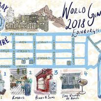 World Gin Day map, 2018