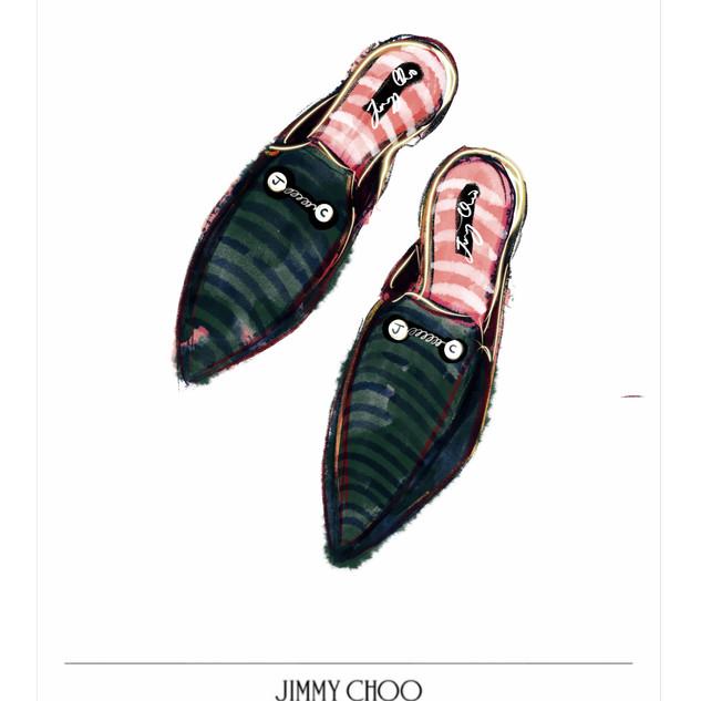 Jimmy Choo sketch entry