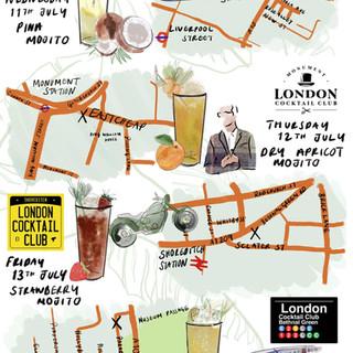 London Cocktail Club - Bacardi Rum Month - Venue Map
