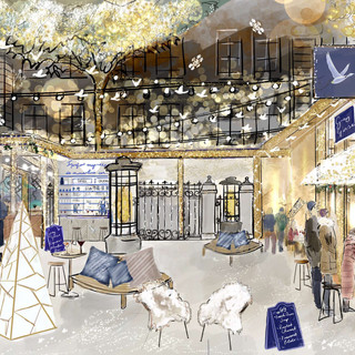 Langham hotel - French Winter Village by Grey Goose