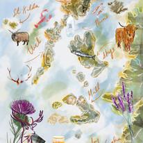 The Hebridean - Illustrated map/menu