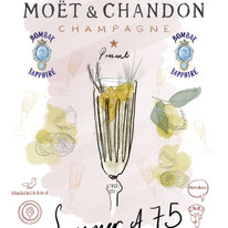 Moët & Chandon Summer of 75 poster for Big Red Teapot Co.
