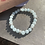 Thumbnail: Blue Chalcedony and silver plated bracelet