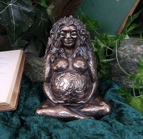 Bronze colour Mother Earth 17.5cm