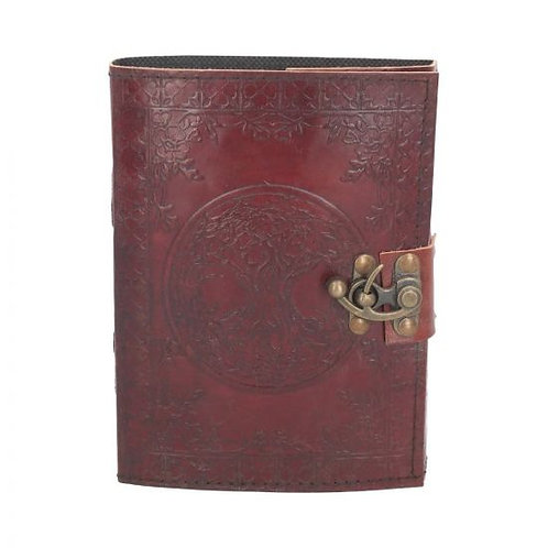 Leather tree of Life journal with clasp 15cmx21cm