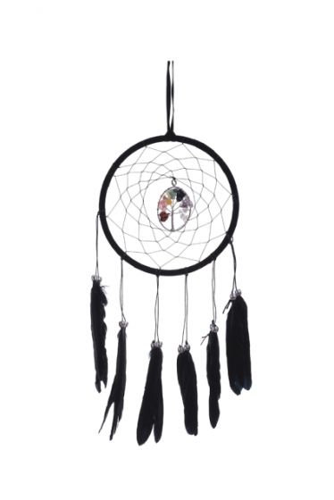 Black tree of life dreamcatcher 16cm