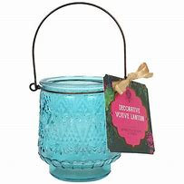 Turquoise votive candle holder