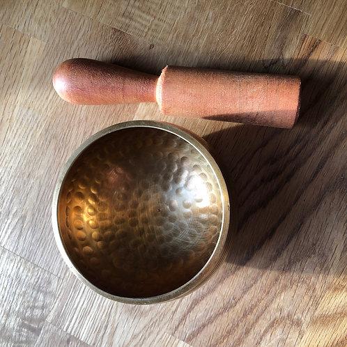 Tibetan singing bowl brass