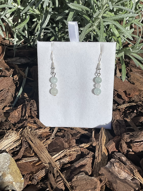 Amazonite on 925 sterling silver hooks