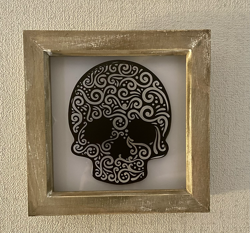 Skull shadow Box Frame 8x8""