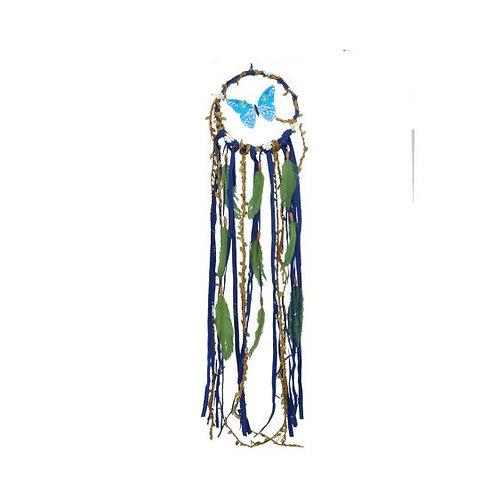 Blue butterfly dreamcatcher 91cm