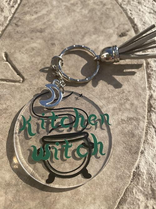 Kitchen witch keyring