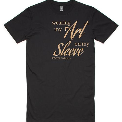 Long Length T Shirt - 'Art on my Sleeve'