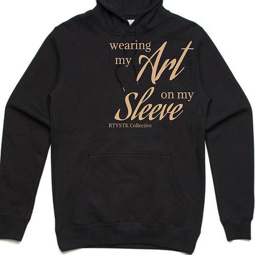 Hoodie 'Art on my Sleeve' - Black