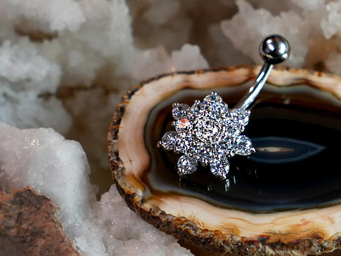 Snow Flake Navel Jewellery