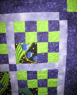 Purple Quilt - detail