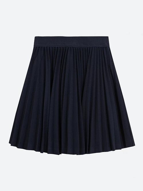 Юбка Темно-синяя гоффрированная