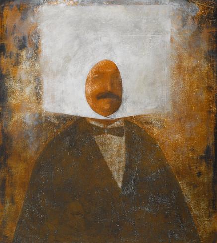 'Anonim Osmanlı portre, tuval üzerine yağlıboya, eski Türkçe imzalı 65 x 48'' / 'Anonymus Ottoman portrait, oil on canvas, signed by the former Turkish 65 x 48'' - 180 x 160Acrylic on paper - 2011