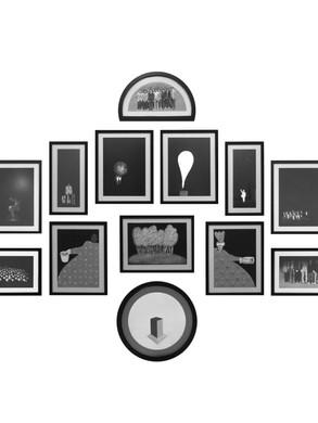 Nesil İnşası / Construction of Generation (15 pieces - dimensions variable) - Acrylic on paper - 2012