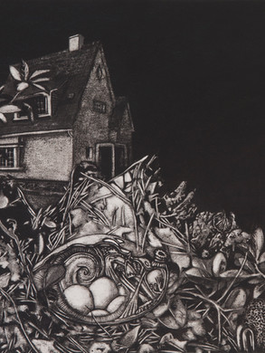 Nostomania no 3 - 50 x 50 -  - Acrylic on paper - 2014