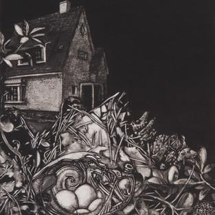 Nostomania no 3 - 50 x 50 -  Acrylic on paper - 2014