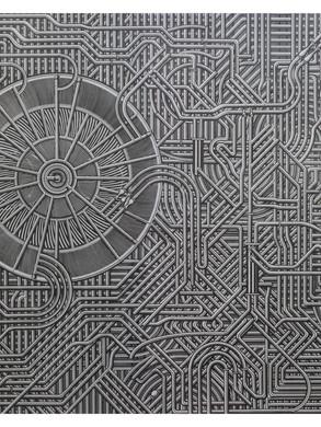 unititled no 5 - 170 x 155 -  Acrylic on paper - 2014