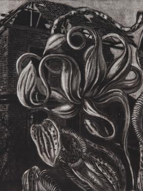 Nostomania no 5 - 50 x 50 -  Acrylic on paper - 2014
