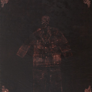 Dört Yarasa Bir Ölü Bekçi/ Four Bats One Dead Watchman - 182 x 166 -  Acrylic on paper - 2011