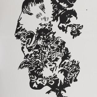 nietzsche - acrylic on canvas - 90 x120 - 2011