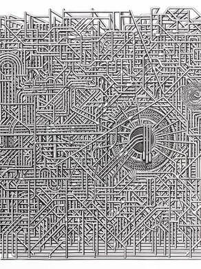 Unititled no 1 - 175 x 175 - Acrylic on paper - 2013