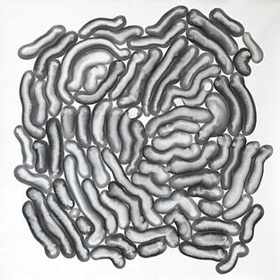 Bakteriler // Bacteries - 70x70 - acrylic on canvas - 2017
