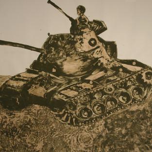 Tank / Tank - 200 x 210 -  Hena on paper - 2008