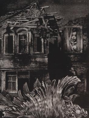 Nostomania no 1 - 50 x 50 -  Acrylic on paper - 2014