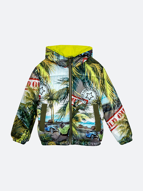 Куртка демисезонная с принтом и капюшоном Gulliver