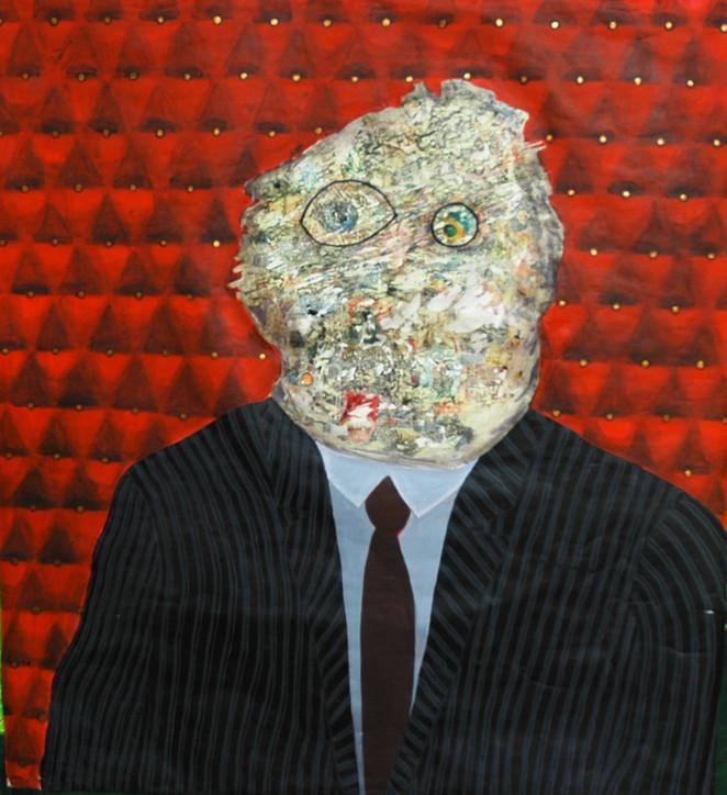 Bürokrat / Bureaucrat - 100 x 125 - Acrylic on paper - 2010