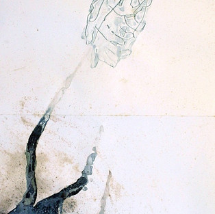 Sırtüstü Düş / Back onto Dream - 70 x 200 - Felt tip on paper - 2008