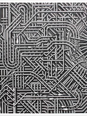 Unititled no 2 - 100 x 100 -  Acrylic on paper - 2013