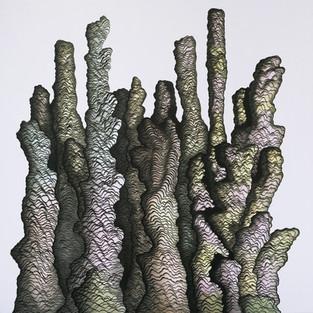 Sferoidler / sferoids - 200 x 190 - ink on canvas - 2018
