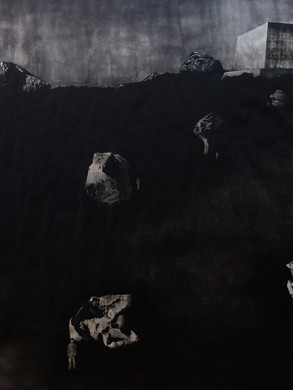 Total İnstitutions - Landcape - 150 x 138 - Acrylic on paper