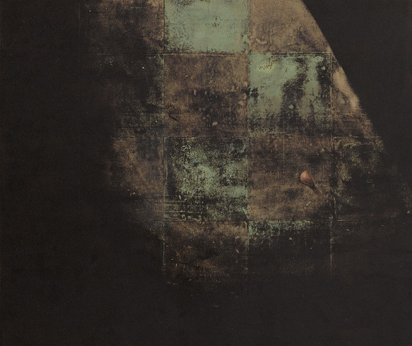 Gözkapağı / Eye lid- 200x 166 - Acrylic on paper - 2011