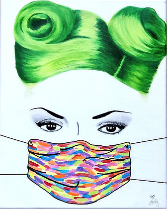 "Pandemic 18""x24"" Acrylic on Canvas"