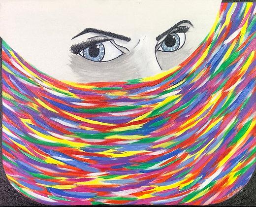 "Ire - 16"" x 20"" Acrylic Painting"