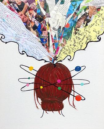 "Mind Palace - 16""x20"" Mixed Media Canvas Painting"