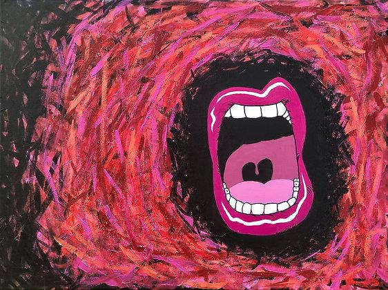 "Rage - 16""x20"" Acrylic Paintings"