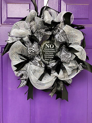 No Soliciting Wreath