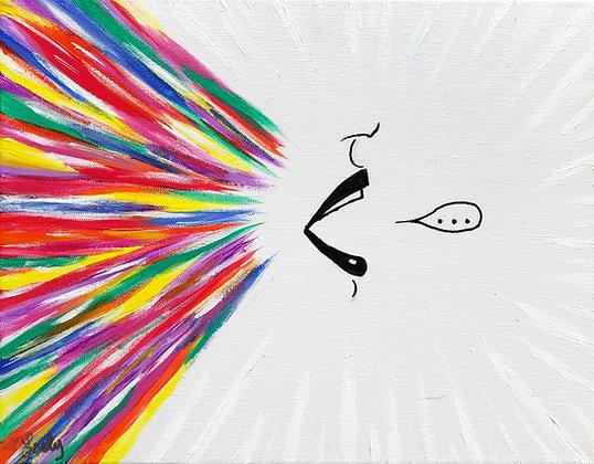 "Introvert - 12""x14"" Acrylic Painting"